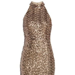 VINCE CAMUTO Sequin Embellished Body-Con Dress